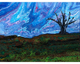 Lone Tree, Original painting LT12X16-1