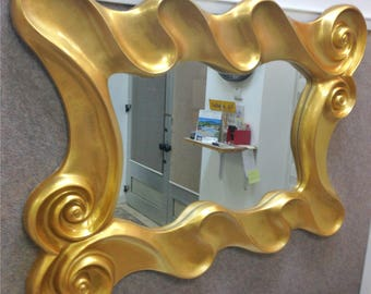 M12 Antique Solid Wood Mirror