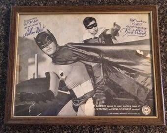 "Batman and Robin Photo - 1966 - DC Comics Promo ""In Frame"" Adam West"