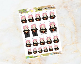 Mabee: Cinema- Movie Time; Character stickers