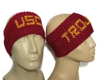 USC Trojans Ear Warmers, Knit Headbands, Unisex Ear Warmers, Knit Ear Warmers, Crocheted Headbands, University of Southern California LA