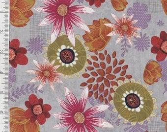 SALE! Wild Wonder - Per Yd - Clothworks - Flowers on Orchid