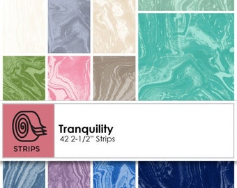 "SALE! Tranquility Jelly Roll - 2.5"" Strips - Clothworks by Sue Zipkin"