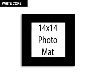 Multiple Colors - Any Opening Size - 14x14 Photo Mat (WHITE CORE)
