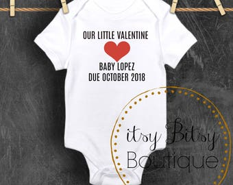 Valentine's Pregnancy Announcement Tee