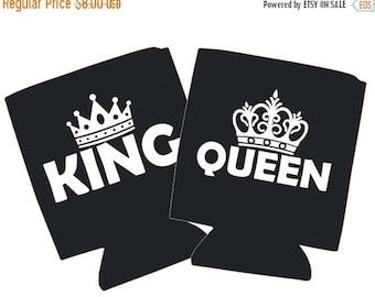 SALE King & Queen Coldie Holder Set