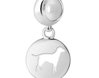 Labrador Dog Charm   Labrador Silhouette Charm   Fits All European Style Bracelets   Labrador Jewelry