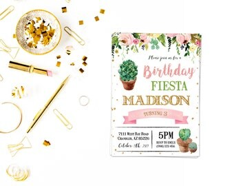 Cactus fiesta birthday,Fiesta Bridal Shower Invitation, Cactus Bridal Shower Invitation, Fiesta Birthday Invitation, Fiesta Baby Shower