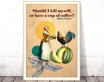 Coffee Poster Print, Coffee Poster Art, Coffee Posters and Prints, Printable Coffee Wall Art, Coffee Poster, Coffee Printable, Coffee Poster