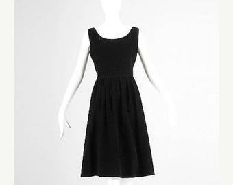 SALE 60s Dress 1960s Jumper Dress Black Corduroy Dress Sleeveless Dress Summer Dress Casual Jumper Corduroy Jumper Casual Dress Medium