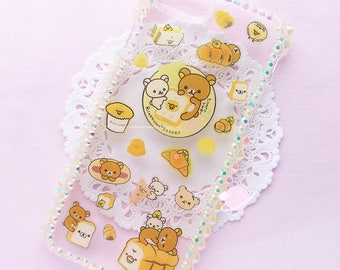 Rilakkuma Bakery iPhone 7 resin case, kawaii decoden case, kawaii resin case, rilakkuma decoden