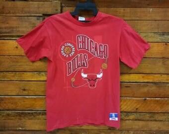 Rare Vintage Chicago Bulls T Shirt, Size L,