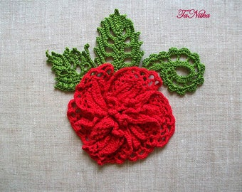 Textile Flowers Brooch Crochet Openwork Blossom Decorative Pin Textile Jewelry Crochet Accessories for Dress