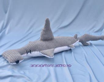 Crocheted Hammerhead Shark