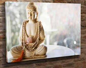Extra Large Canvas Wall Art Print Picture Sitting Buddha