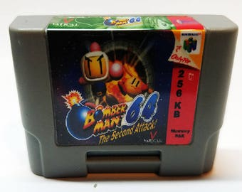 N64 Memory Pak with Bomberman 2 Sticker (256KB)