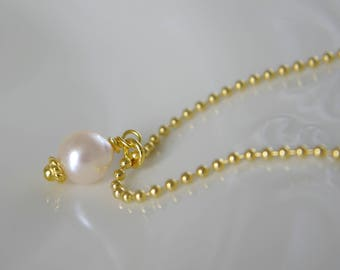 Bracelet or necklace with Akoya pearl necklace 925 sterling silver gold plated
