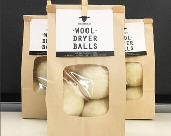 Felted Wool Dryer Balls—Single or Set of Three