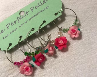 rose wine charms