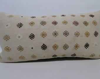 12x24 Sofa Pillow Throw Pillow Ethnic Pillow Lumbr Kilim Pillow 12x24 Handwoven Kilim Pillow Embroidered Kilim Pillow SP3060-1414