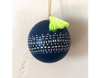 Navy Christmas Ornament