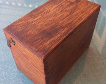 Vintage wooden dovetail recipe box