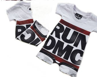 Run DMC Romper or Dress or Tee Shirt/ Upcycled tee shirt romper