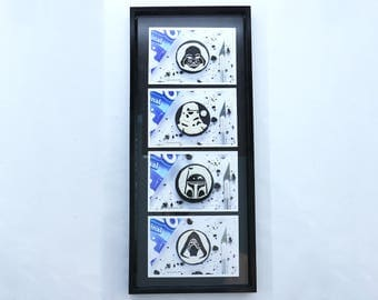 Star Wars Oreo Cookie Carving Collection by Kitslams Art - Frame Included!