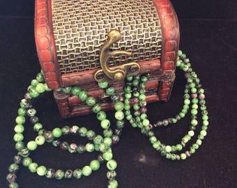 Ruby Zoisite Stretch Bracelet