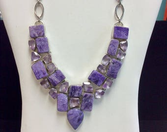 Chariote & Amethyst Sterling Silver Necklace