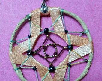 "Collection ""Ribbon"" cross rough pendant"