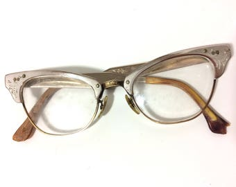Vintage 1950's Cat Eye Glasses