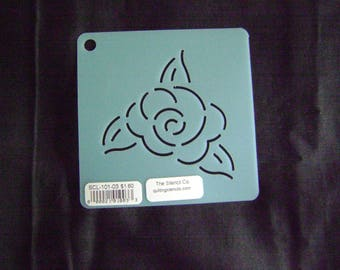 Sashiko Japanese Embroidery Stencil 3 in. Rose Motif Block/Quilting