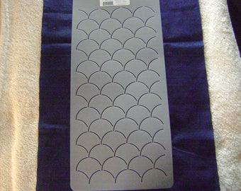 Sashiko Japanese Quilting/Embroidery Stencil 1.75 in. Clamshells Motif/Quilting