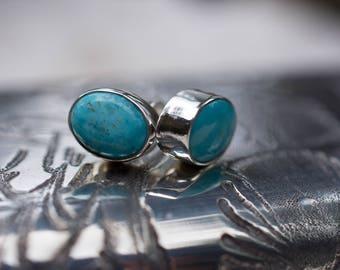 Fox Turquoise Stud Earrings - Turquoise Studs - Studs