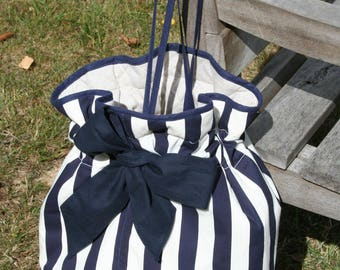 Blue sailor shoulder bag