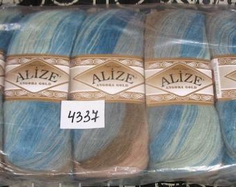 ALİZE Angora Gold Batik - PACK 5x100g - crochet yarn, knitting yarn, batik yarn, acrylic yarn, yarn for accessories, Mohair - Wool - Acrylic