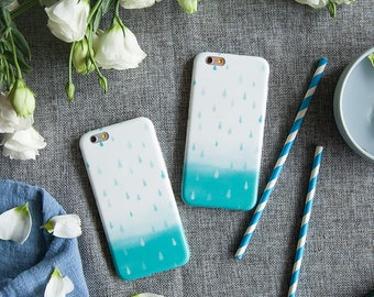 iPhone 6 plus Case iPhone Case 6 plus - Watercolor Rain - Vintage Phone Case - Ultra slim - Matte
