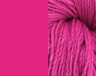 Wool yarn, pink | bulky, 2 ply worsted quick knit pure wool yarn 100g/130m