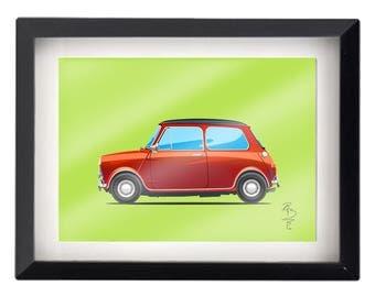 Classic Mini Cooper Illustration