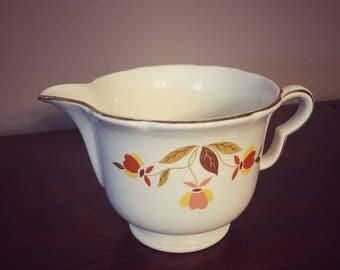 Vintage Hall's Superior Jewel Tea Co. Autumn Leaf Creamer