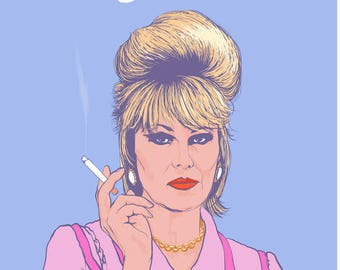 Patsy Stone Greetings Card - A6 Greetings Card - AbFAb Card - Absolutely Fabulous Themed Card - Birthday Card