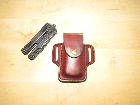 Leather sheath custom crafted Leatherman© OHT sheath, custom replacement sheath, leather case, belt, EDC, OWB
