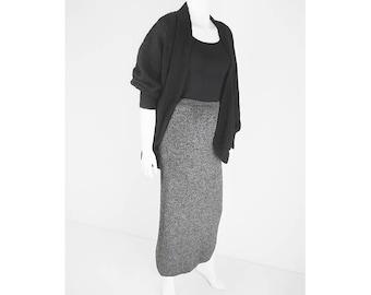 Mottled vintage tubular skirt with wool part