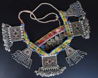 OLD CAMEL NECKLACE - Ceremonial Afghan Kuchi Tribal Jewelry