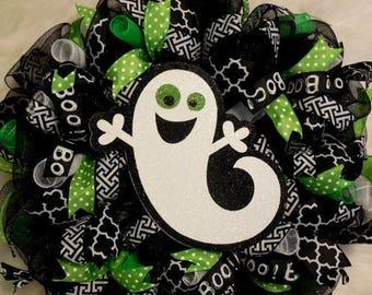 PRE-LABOR DAY Sale Halloween Wreath, Halloween Wreath, boo wreath, ghost wreath, boo wreaths, ghost wreaths, Fall Wreaths, Happy Halloween