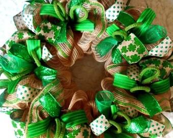 SALE St. Patricks Day Wreath, St. Patricks day, St Patrick's day wreath, St Patricks wreath, St Patrick wreath, St. Patricks Day
