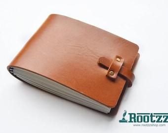 A6 landscape Traveler's notebook cognac - midori like- fauxdori - urban sketchers