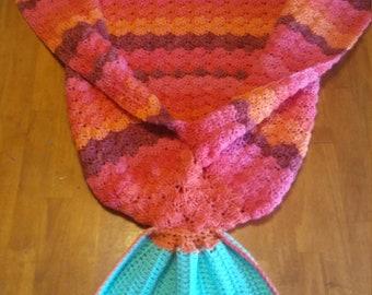 Adult Mermaid Blanket, Crocheted