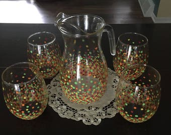 Pitcher with 4 glasses